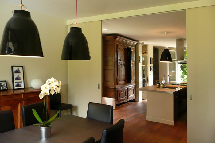 Grande cuisine-salle à manger