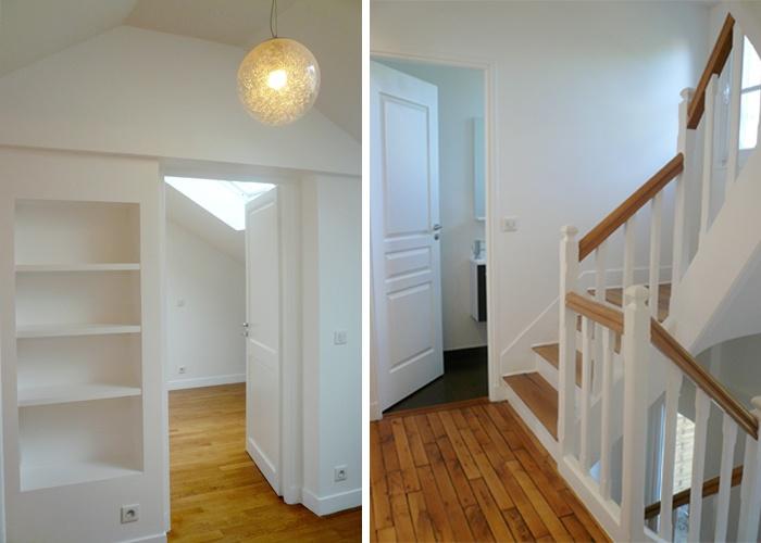 Restructuration et surélévation d'une maison de ville : 3-12-2010-CALLA-escalier