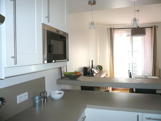 Restructuration et surélévation d'une maison de ville : 5-12-2010-CALLA-vue zoom cuisine