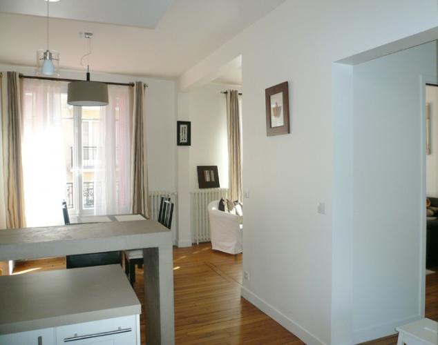 Restructuration et surélévation d'une maison de ville : 6-12-2010-CALLA-vue salon depuis cuisine