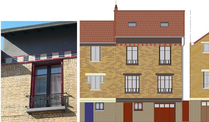 Restructuration et surélévation d'une maison de ville : 9-12-2010-CALLA-façade