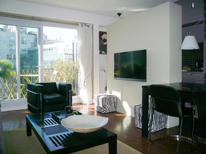 Restructuration d'un appartement, Paris XIIIe : 5-12-2010-BAR-vue générale séjour
