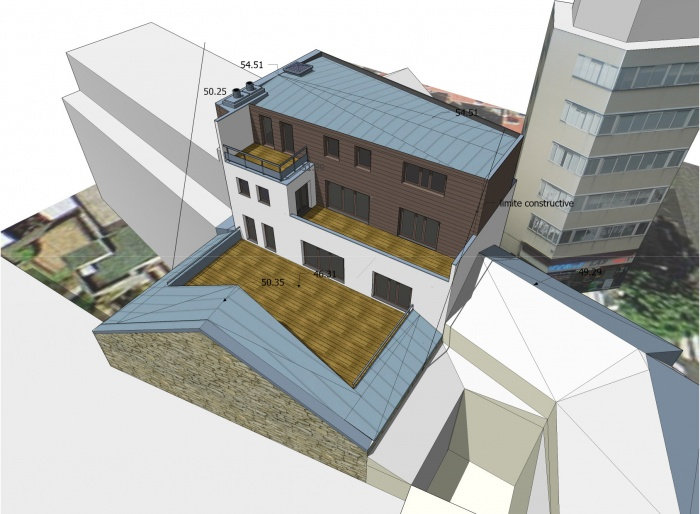 Immeuble André Morand : projet vue arrière SE 02