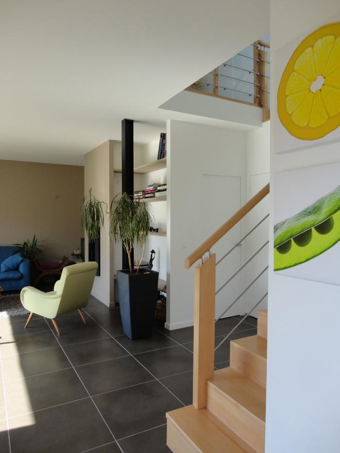 Extension et restructuration d'une maison de ville, Bois Colombes : 6-Bois Colombes-salon 3