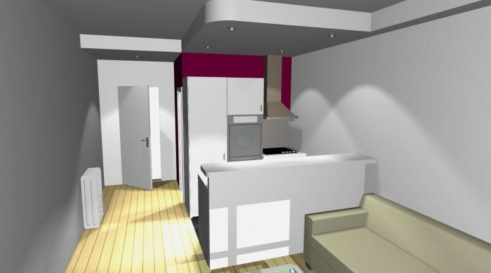 Studio gain de place : Vue 3D