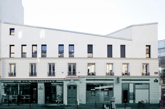 Restructuration et surélévation d'un immeuble de logements, Paris XXe