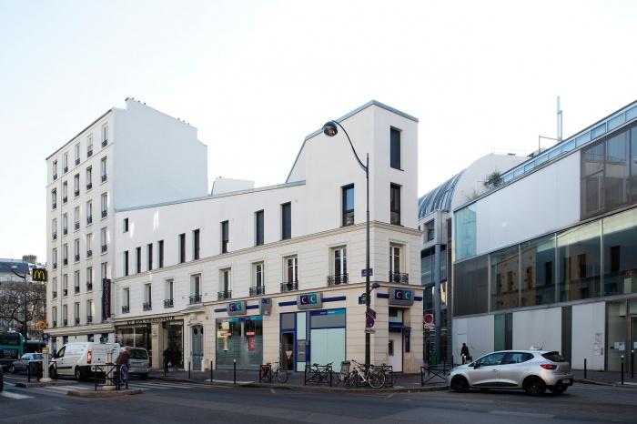 Restructuration et surélévation d'un immeuble de logements, Paris XXe : Gambetta_147 site