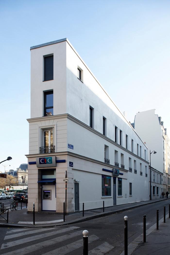 Restructuration et surélévation d'un immeuble de logements, Paris XXe : Gambetta_169 site
