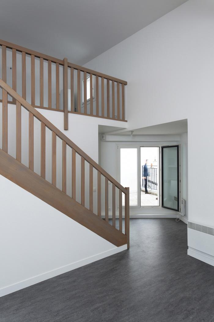 Restructuration et surélévation d'un immeuble de logements, Paris XXe : Gambetta_032 site