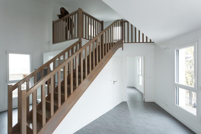Restructuration et surélévation d'un immeuble de logements, Paris XXe : Gambetta_050 site