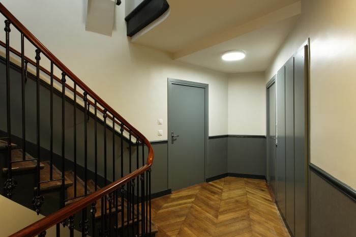 Restructuration et surélévation d'un immeuble de logements, Paris XXe : Gambetta_110D site