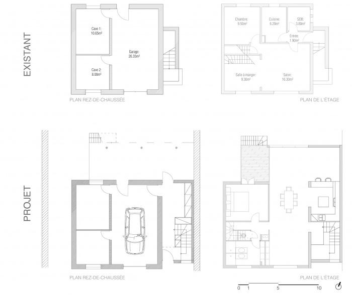 Extension de maison : Plans