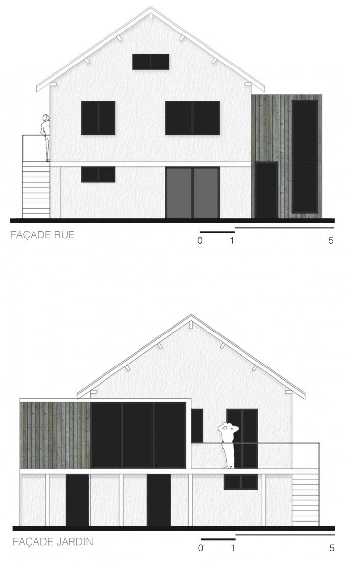 Extension de maison : Elévations