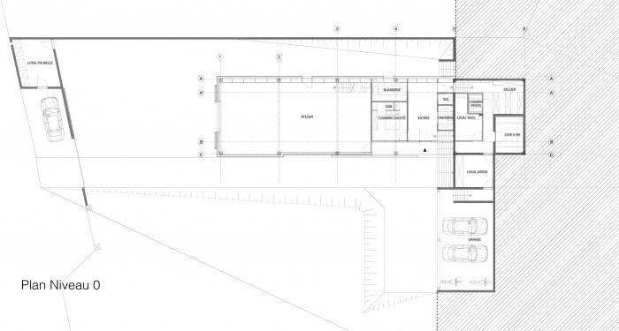 Maison - Atelier : Plans niveau 0