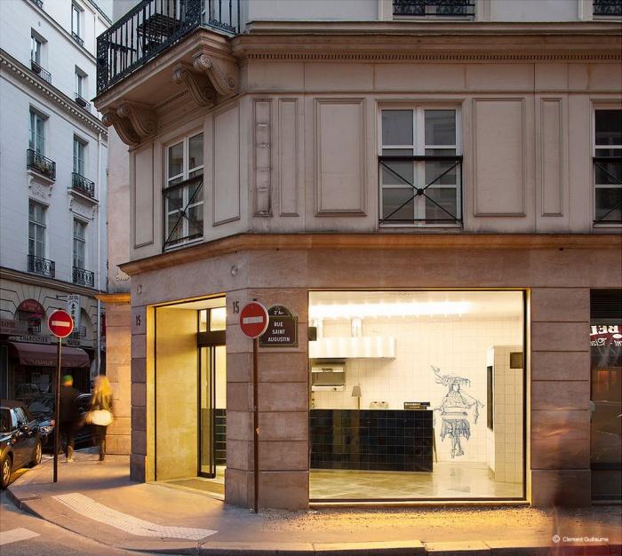 Restaurant le : Photographie extérieure rue Saint Augustin