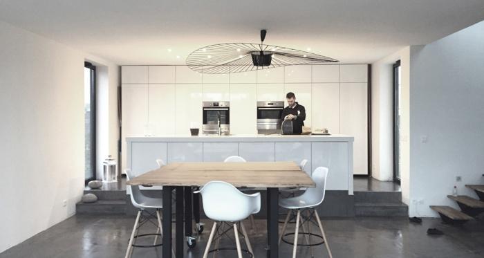 Maison ossature bois : Maison architecte chessy cuisine
