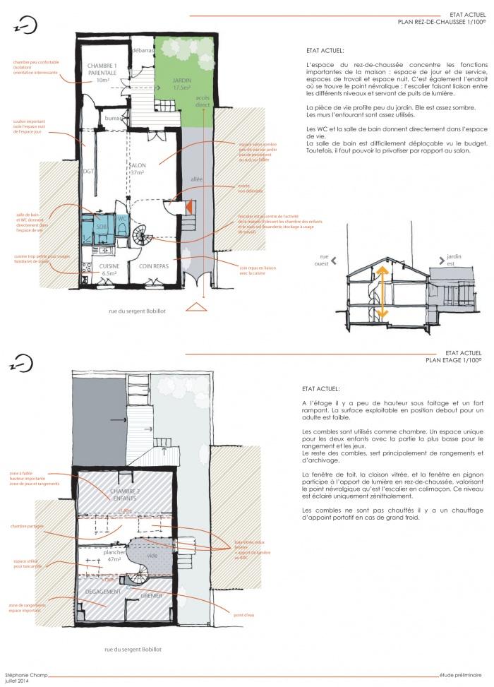 Reconfiguration et surélévation d'une maison : EJ-ETUP PROP
