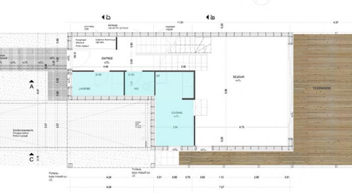 Maison bois en Autoconstruction (77) : vue6