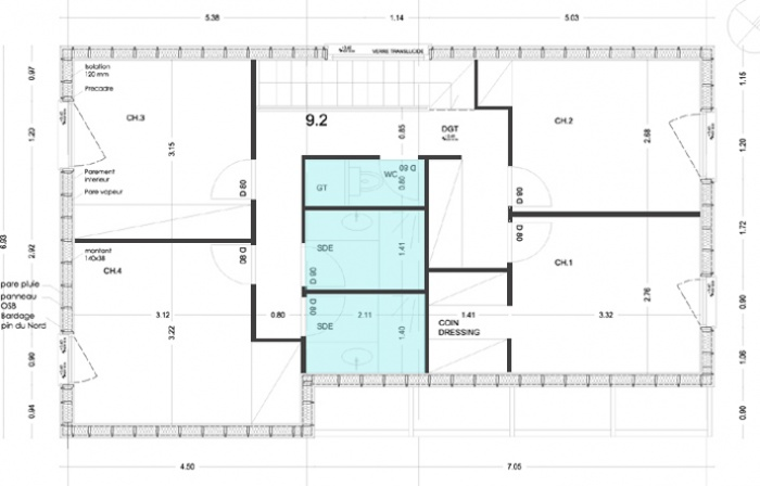Maison bois en Autoconstruction (77) : vue7