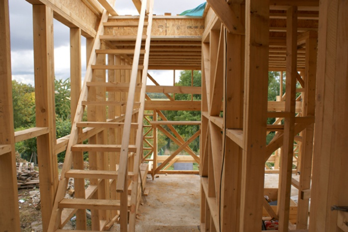 Maison bois en Autoconstruction (77) : vue2