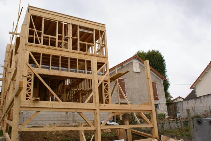 Maison bois en Autoconstruction (77) : vue5
