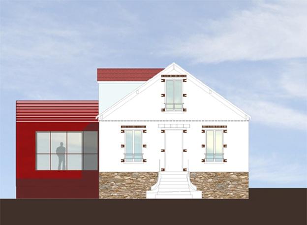 Extension d'un maison des années 1930 (77) : Façade Est
