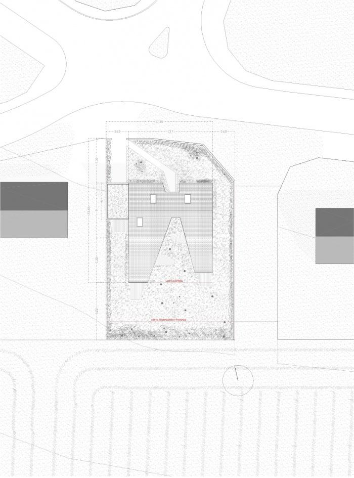 Maison S : plan masse