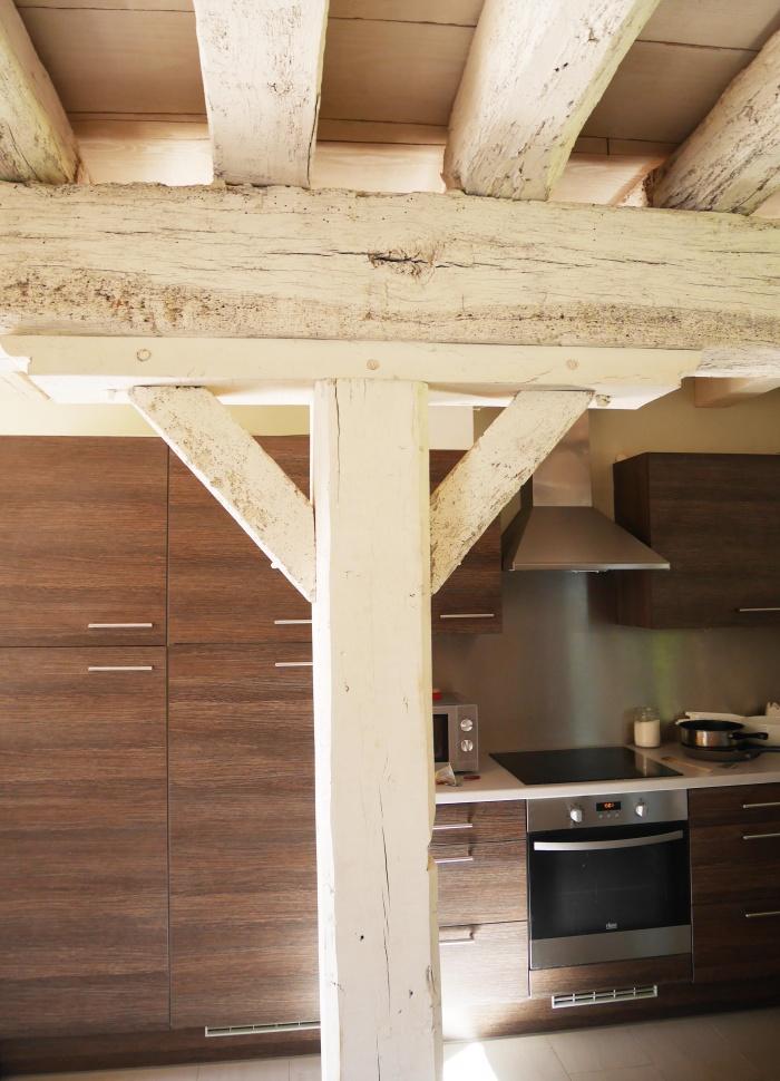 Transformation d'une grange en loft : Détail cuisine