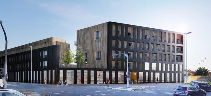 Bâtiment mixte de 71 logements, commerces et bureaux