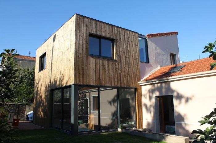 Rénovation et extension de maison, construction à ossature bois
